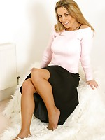skinny legs with nylons